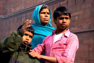Hinduska rodzina mieszkająca w Starym Delhi