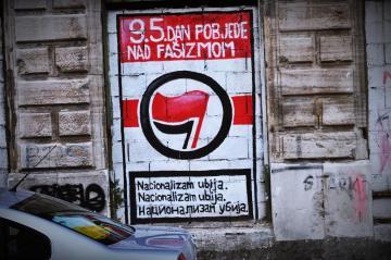 Napisy na murach w Bośni