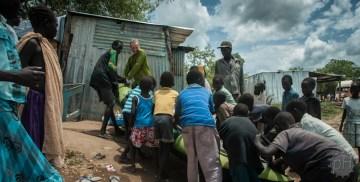Mieszkańcy Mangali w Sudanie Południowym
