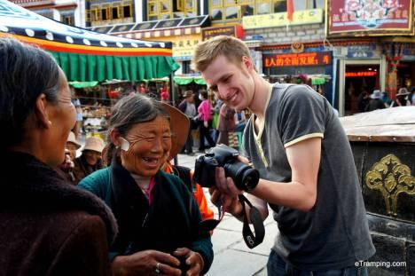 Mieszkanki Tybetu w Lhasie
