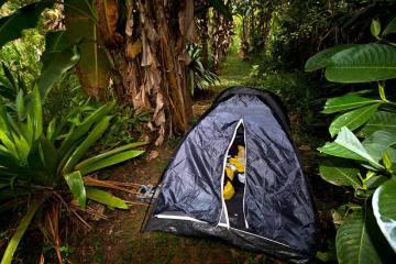 Ekwador - nocleg w namiocie