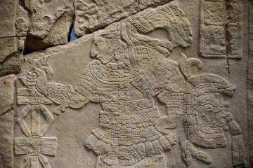 Rysunek na piramidzie Majów w Meksyku