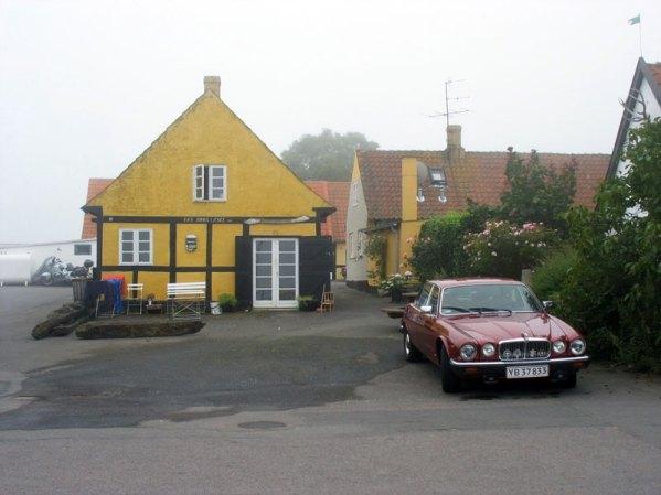 Kolorowe domy na wyspie Bornholm