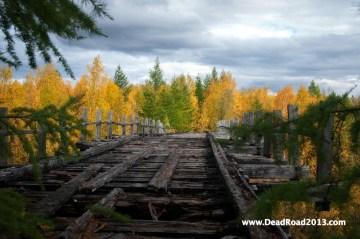 Stary wiadukt w Rosji. WYprawa na Syberię