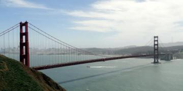 Podróż przez USA. Most Golden Gate