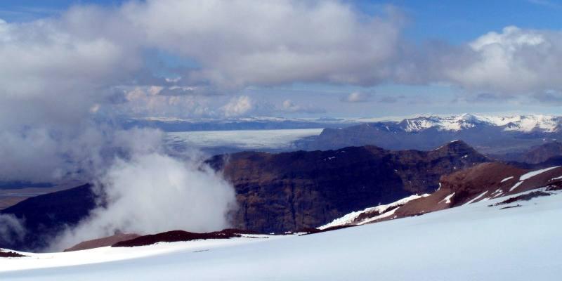 Krajobraz w górach Islandii