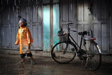 Deszcz w Birmie