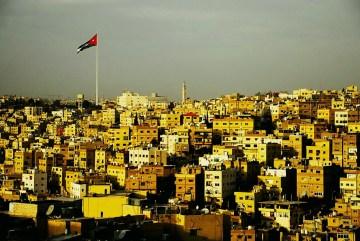 Panorama stolicy Jordani