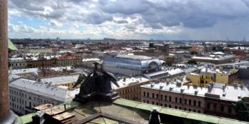Panorama Sankt Petersburga, dawnej stolicy Rosji