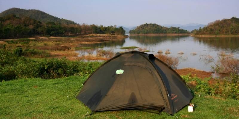 Nocleg pod namiotem w Tajlandii