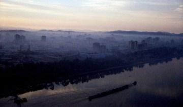 Widok na stolice Korei Północnej - foto