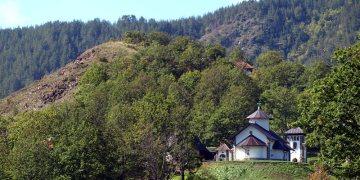 Monastyr w górach Serbii