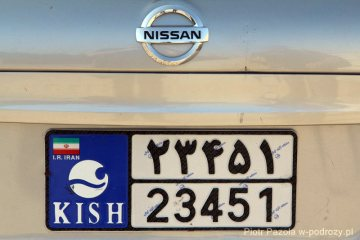 Iran. Tablica rejestracyjna po arabsku