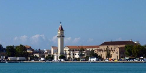Miasto Zakinthos, stolica greckiej wyspy Zakinthos.
