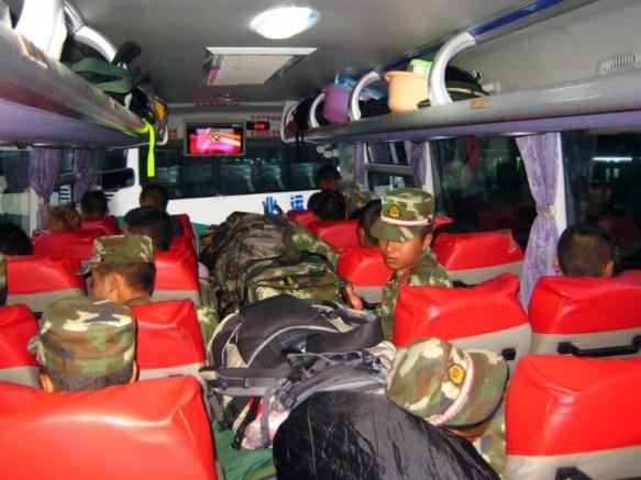 Podróż autobusem przez Chiny