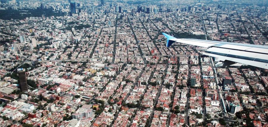 Mexico City - widok z samolotu