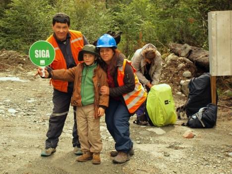 Autostop z dzieckiem w Chile