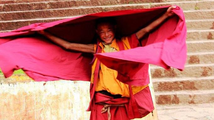 Młody mnich z Litangu