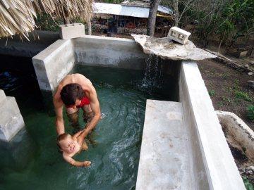 Basen na eko farmie w Meksyku