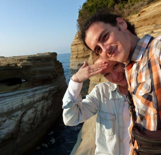 Dorota Kamińska z mężem na Korfu