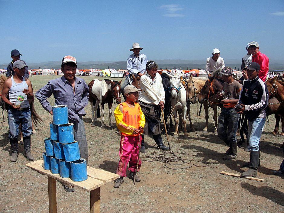 Obchody święta Naadam w Mongolii