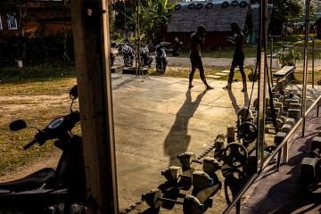 Trening boksu tajskiego - foto
