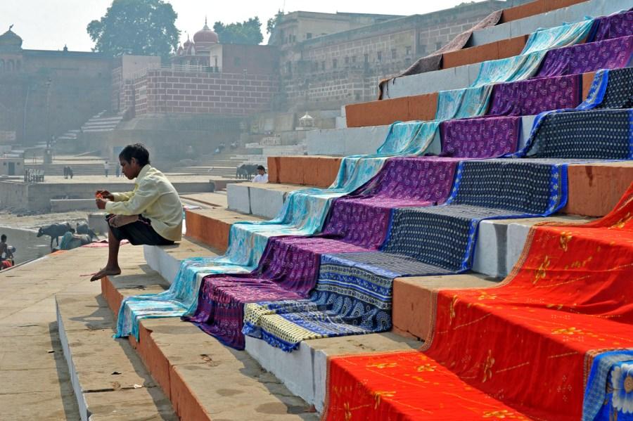 Na brzegu Gangesu w Waranasi