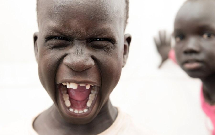Afryka, radosny dzieciak