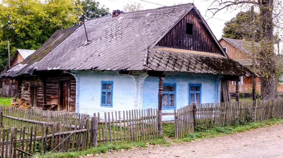 Ukraińska chata w Karpatach