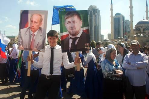 Czeczenia, manifestacja w Groznym