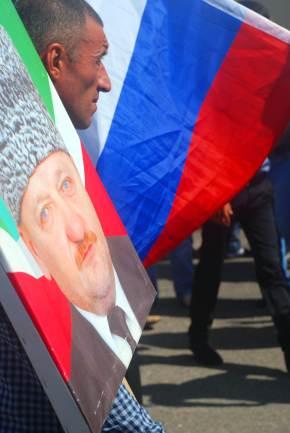 Czeczenia, plakat Achmada Kadyrowa
