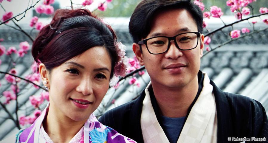 Młoda para z Tokio, wesele w Japonii