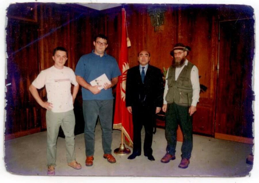 Zeflik Chłódek i Askar Akajew, prezydent Kirgistanu