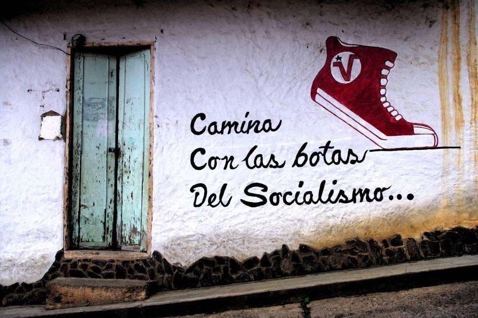 Socjalizm w Wenezueli, graffiti w Caracas
