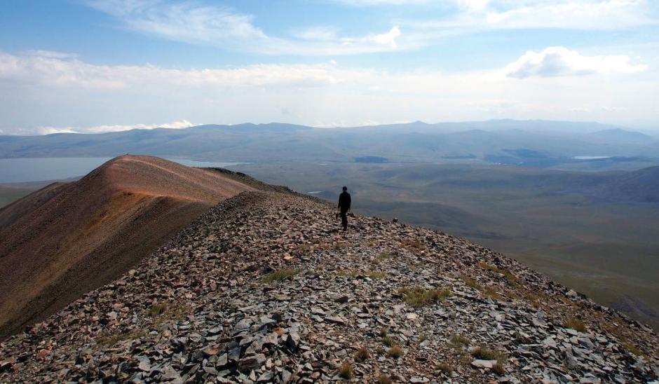 Gruzja, góry Samsarskie, zejście ze szczytu Didi Abuli