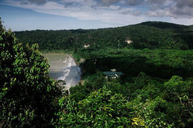 Część Borneo należy do Malezji. Znajduje sie tu park narodowy Bako
