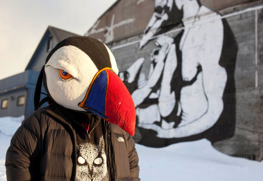 Pøbel w Vardo, norweski street-art