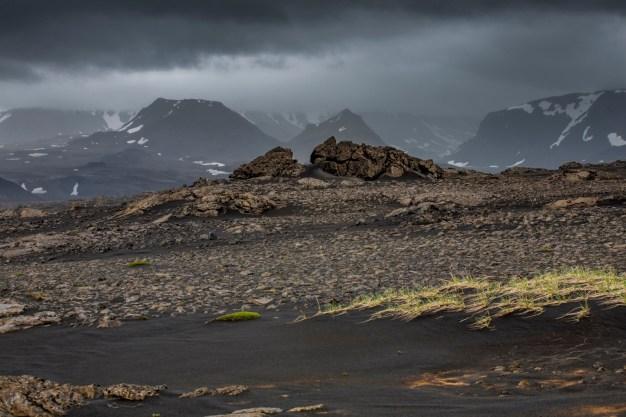 Islandia pieszo, w deszczu przez Langjokull