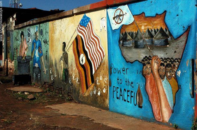 Mural w Gulu, pokój dla Afryki