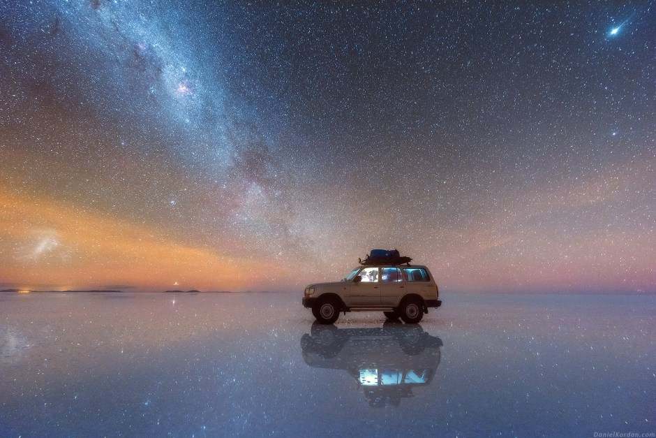 Noc na Salar de Uyuni, foto