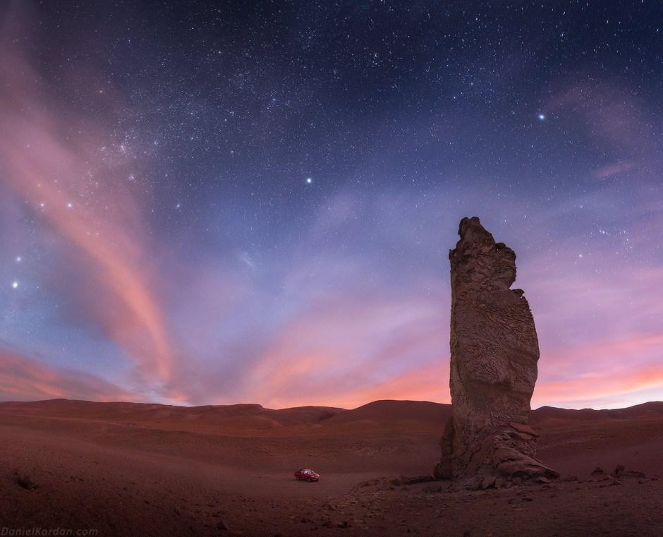 Boliwia, astrofotografia, noc na Salar de Uyuni