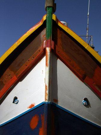 Podróz na Maltę, łódź rybacka