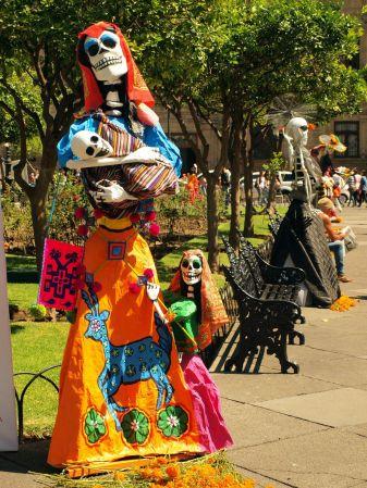 Meksyk, muerte, święto zmarłych na wyspie Janitzio