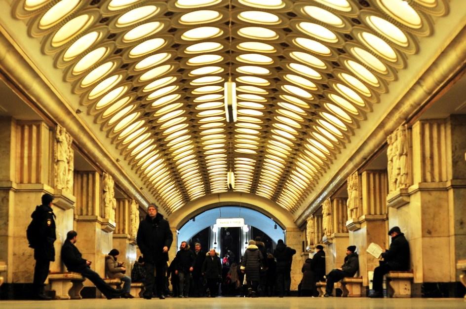 Metro w Moskwie - zdjęcia z Rosji