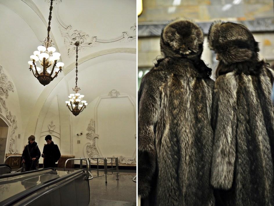 Rosja. Zdjęcia z metra w Moskwie