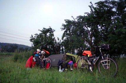 Rumunia - nocleg pod namiotem