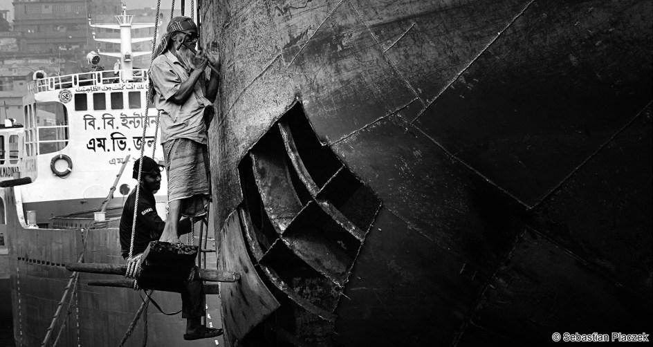 Bangladesz - fotoreportaż, stocznia w Dhace