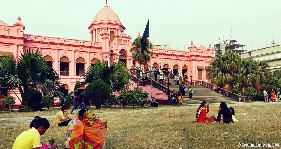 Zabytki Dhaki, Ahsan Manzil, podróże, Bangladesz