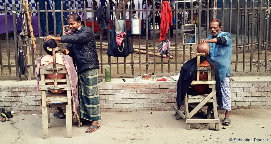 Bangladesz, fryzjer, ulice haki, foto