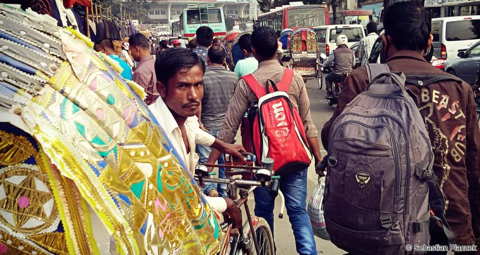 Podróż do Bangladeszu, zdjęcia z Dhaki, rykszarz